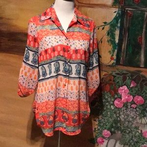 COLORFUL TUNIC BLOUSE